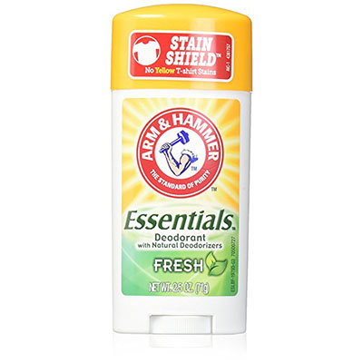 Best Deodorants for Sensitive Skin Arm & Hammer Essentials Fresh 3 pack