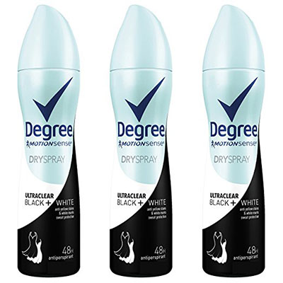 Best Antiperspirants for Women Degree UltraClear Antiperspirant Deodorant Dry Spray 3pack