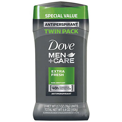 Best Deodorants for Sensitive Skin Dove Men+Care Extra Fresh 2 pack