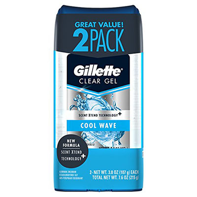 Best Antiperspirants for Men Gillette Cool Wave Clear Gel Men's Antiperspirant and Deodorant 2pack