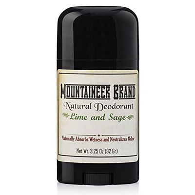 Best Aluminum Free Deodorants Mountaineer Brand All Natural Deodorant: Lime and Sage