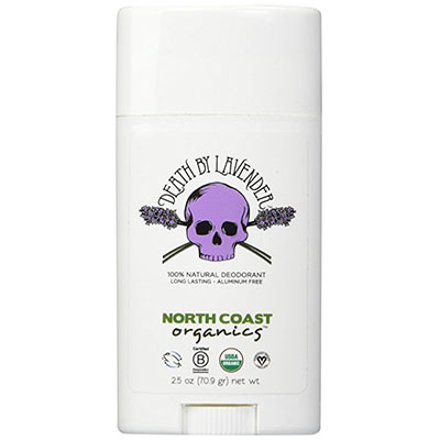 Best Cruelty Free Deodorants North Coast Organics- Death By Lavender Organic Deodorant, 2.5 oz