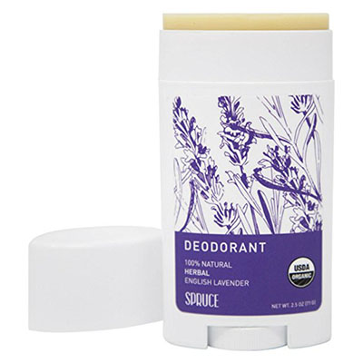 Best Cruelty Free Deodorants Spruce Naturals Organic Deodorant - All Day Protection and Aluminum Free - 2.5 oz Lavender