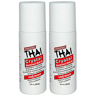 Best Alcohol Free Deodorants Thai Crystal Deodorant Stone All-Natural Roll-On